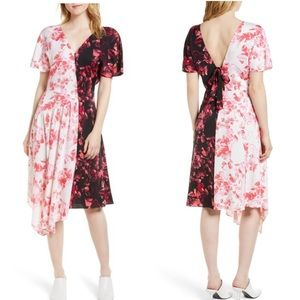 Lewit Nordstrom double floral stretch silk dress